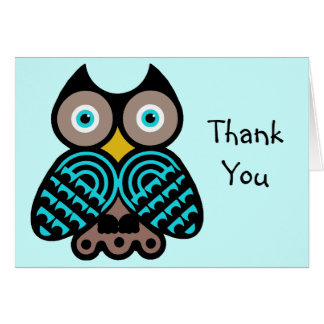 Big Owl Thank You Note Card