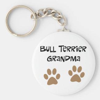 Big Pawprints Bull Terrier Grandma Key Ring