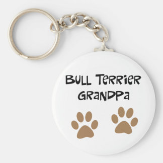 Big Pawprints Bull Terrier Grandpa Key Ring