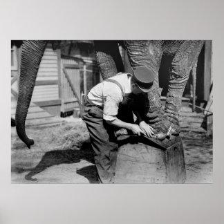 Big Pedicure, 1910s Print
