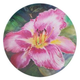 Big Purple Pink Flower - Watercolor Plate