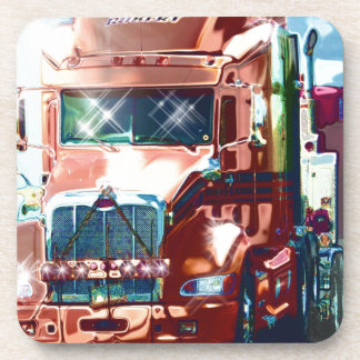 Big Red Heavy Truck for Truckers & Truck-Lovers Coaster