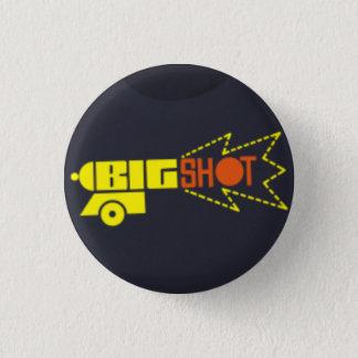 big shot records 3 cm round badge