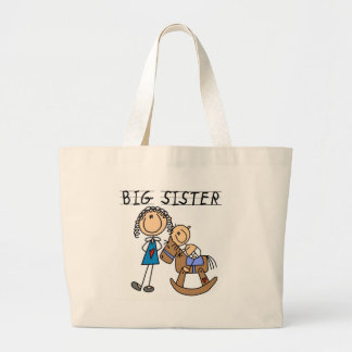 Big Sister Baby Brother T-shirts and Gifts Large Tote Bag