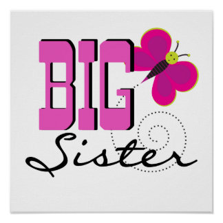Big Sister - Butterfly Gifts Posters