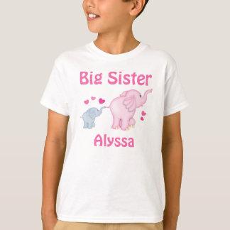 Big Sister Elephant Personalised T-shirt