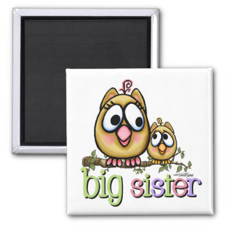 Big Sister - little Brother Square Magnet