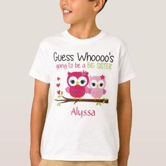Big Sister Owl Personalised T-Shirt