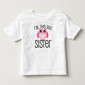 Big Sister Pink Owl Toddler T-Shirt