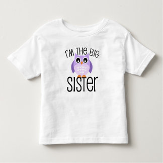 Big Sister Purple Owl Toddler T-Shirt