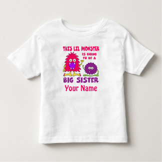 Big Sister To Be Monster Personalized Shirt