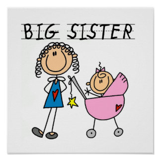 Big Sister With Little Sister Gifts Print