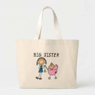 Big Sister with Little Sister T-shirts and Gifts Large Tote Bag