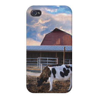 Big Sky Cow and Barn iPhone Case iPhone 4/4S Case