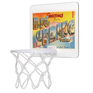 Big Spring Texas TX Old Vintage Travel Souvenir Mini Basketball Hoop