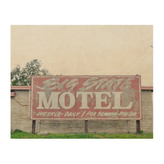 Big State Motel Wood Canvases