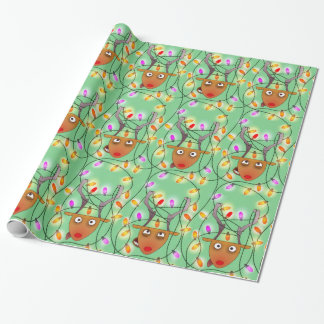 Big stuck reindeer wrapping paper