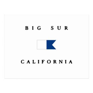 Big Sur California Alpha Dive Flag Postcard