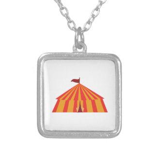 Big Tent Square Pendant Necklace