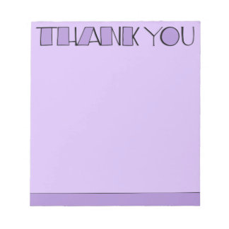 Big Thank You purple Notepad