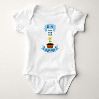 Big things have small beginnings baby bodysuit
