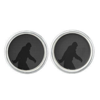 Bigfoot on Carbon Fiber Print Cuff Links