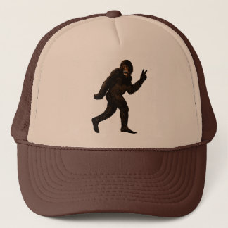 Bigfoot Peace Trucker Hat