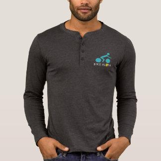 Bike Aloha Logo Men's Henley Long Sleeve - Dark Tshirt