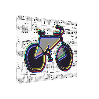 bike and music canvas print