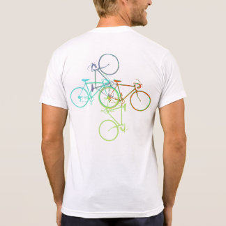 bike . cycling . biking on white T-Shirt
