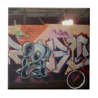 Bike & Graffiti AMS Ceramic Tile