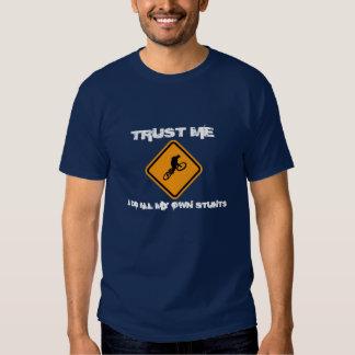 bike logo, TRUST ME, I DO ALL MY O... - Customized T Shirts