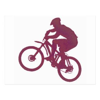 Bike Maroon Inside Postcard