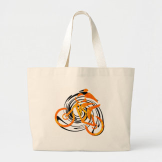 bike Orange Crush Tote Bag