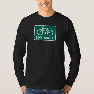 Bike route LS T Shirt