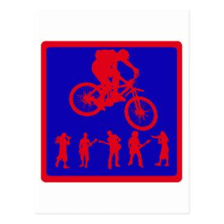 Bike Tough Road Postcard