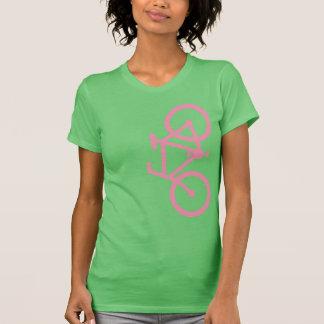 Bike, Vertical Silhouette, Pink Design Tees