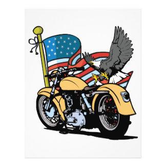 Biker American Eagle Flyer Design
