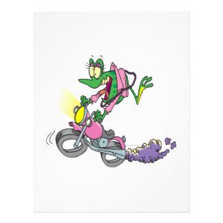 biker chick froggy frog animal cartoon flyer design