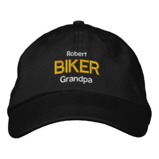 BIKER GRANDPA Personalized Adjustable Hat V06 Embroidered Hats
