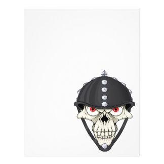 Biker Helmet Skull design for Motorcycle Riders Flyers