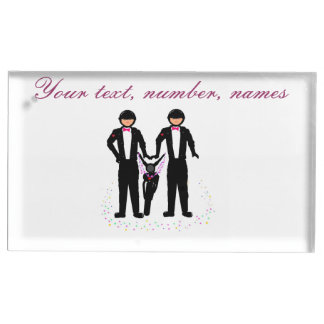 Biker wedding/ Civil Ceremony table place holder Table Card Holders