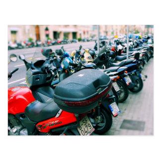 Bikers Row Barcelona Postcard