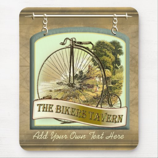 Bikers Tavern Pub Sign Mousepad