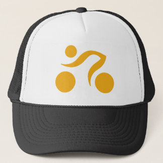 Biking logo trucker hat
