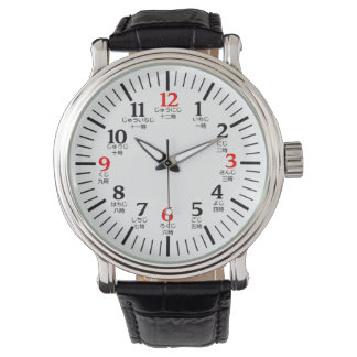 Bilingual English/Japanese Numeral Character Watch