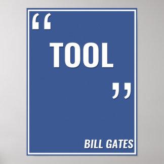 "Bill Gates – ""TOOL"" Poster"