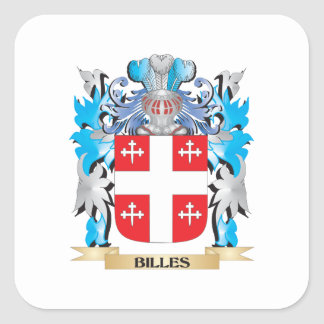 Billes Coat of Arms Square Sticker