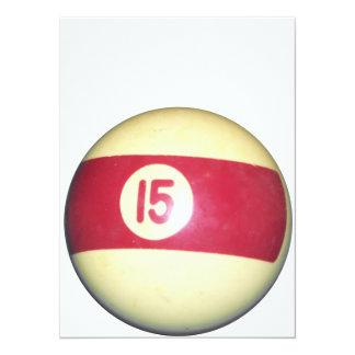"Billiard Ball #15 5.5"" X 7.5"" Invitation Card"