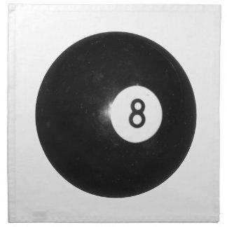 Billiard Ball #8 Napkin